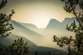 Smoke in Glacier Park